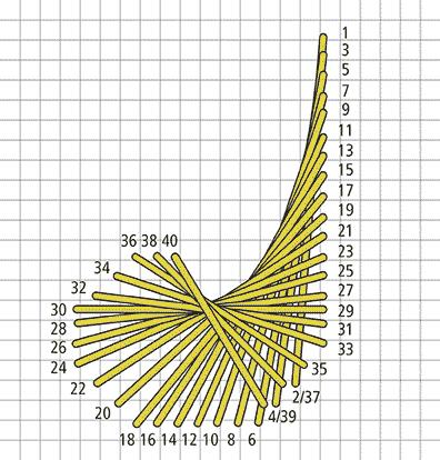 Crescent Stitch Variation