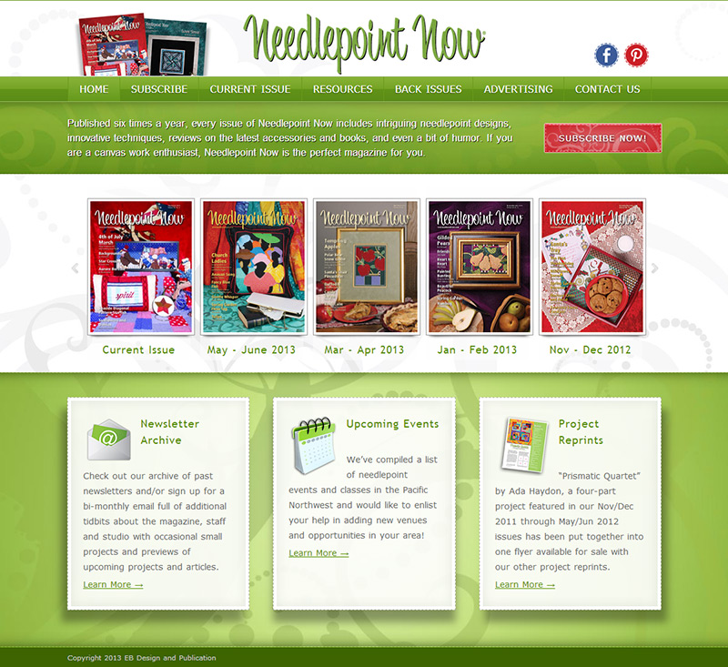 Needlepoint Now Website Makeover!